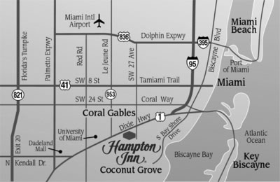 Coconut Grove Florida Map.Coconut Grove Hotels Hampton Inn By Hilton Coconut Grove Fl 305
